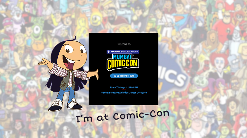 Tibu at Comic-con Mumbai